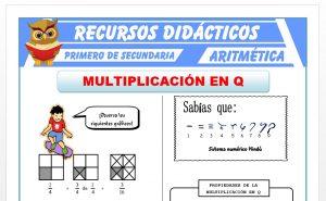 Ficha de Multiplicación de Números Racionales para Primero de Secundaria
