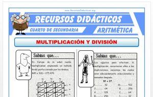 Ficha de Multiplicación y División para Cuarto de Secundaria
