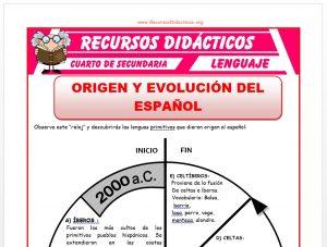 Ficha de Origen y Evolución del Español para Cuarto de Secundaria