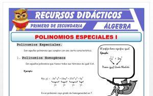 Ficha de Polinomios Homogéneos y Completos para Primero de Secundaria