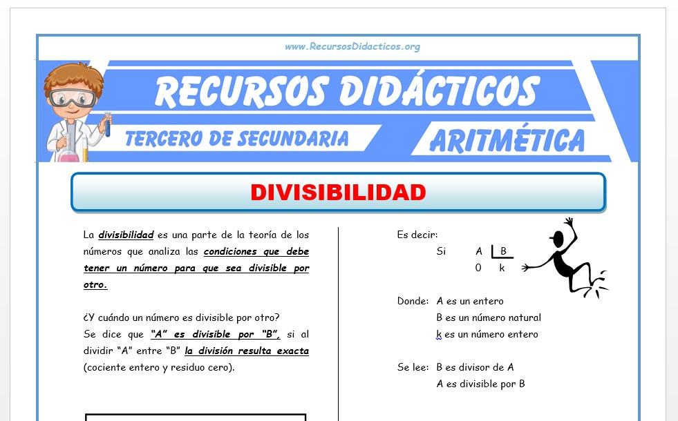 Ficha de Problemas de Divisibilidad para Tercero de Secundaria