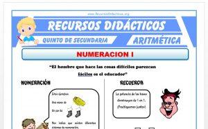Ficha de Problemas de Sistemas Numeración para Quinto de Secundaria