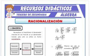 Ficha de Racionalización para Tercero de Secundaria