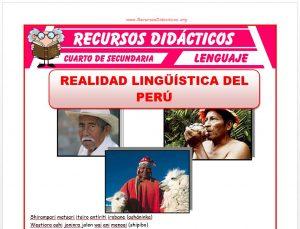 Ficha de Realidad Lingüística del Perú para Cuarto de Secundaria