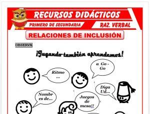 Ficha de Relaciones de Inclusión para Primero de Secundaria