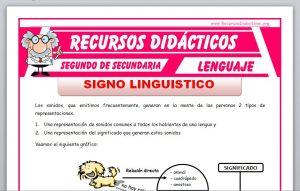 Ficha de Significado y Significante para Segundo de Secundaria