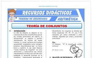Ficha de Teoría de Conjuntos para Tercero de Secundaria