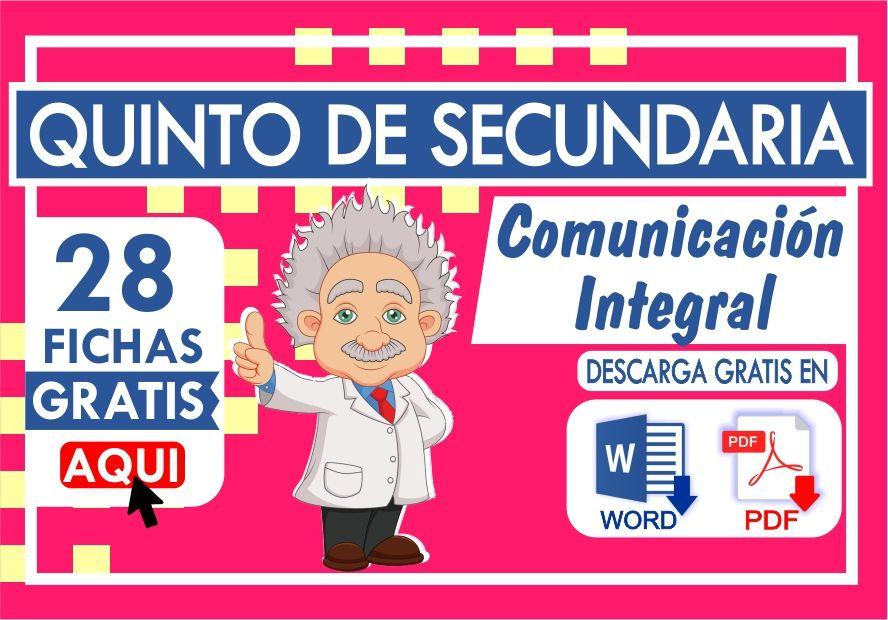 Ejercicios de Comunicacion Integral para Quinto de Secundaria