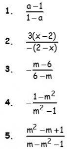 Ejercicios de Fraccion Algebraica