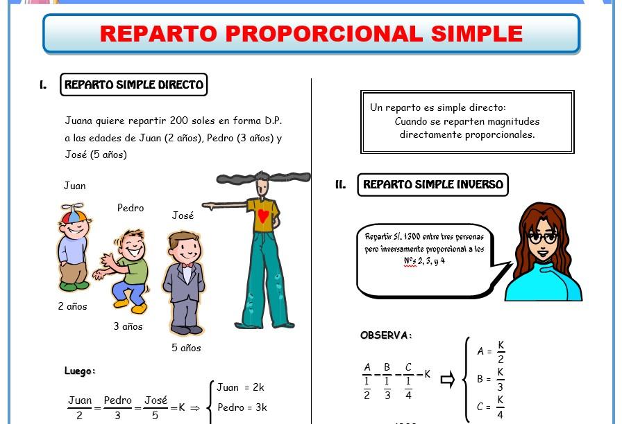 Ejemplo de ficha de ejercicios de Aritmetica para 3er grado de Secundaria