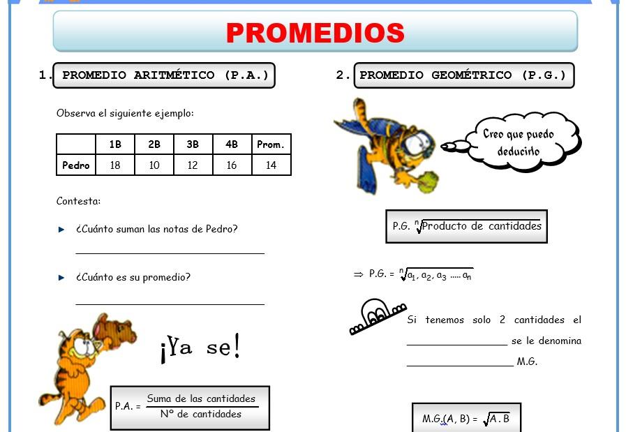Ejemplo de ficha de Actividades de Aritmetica para 1er grado de Secundaria