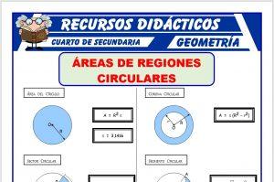Ficha de Áreas de Regiones Circulares para Cuarto de Secundaria