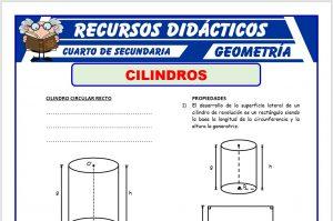 Ficha de Cilindro Circular Recto para Cuarto de Secundaria