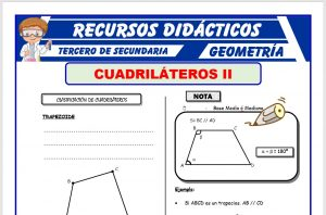 Ficha de Clases de Cuadriláteros para Tercero de Secundaria