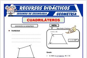 Ficha de Clasificación de Cuadriláteros para Segundo de Secundaria