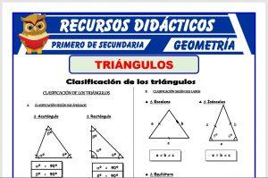 Ficha de Clasificación de Triángulos para Primero de Secundaria