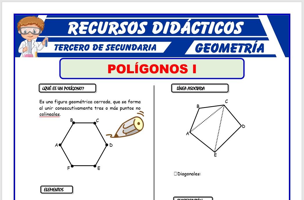 Ficha de Clasificación de los Polígonos para Tercero de Secundaria