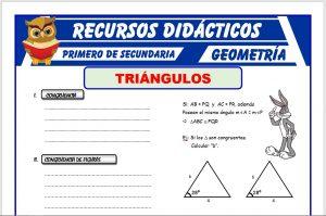 Ficha de Congruencia de Triangulos para Primero de Secundaria
