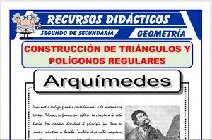 Ficha de Construcción de Triángulos y Polígonos Regulares para Segundo de Secundaria