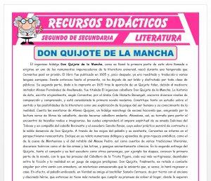 Ficha de Don Quijote de la Mancha para Segundo de Secundaria