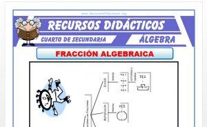 Ficha de Ejercicios de Fracciones Algebraicas para Cuarto de Secundaria