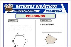 Ficha de Ejercicios de Polígonos para Cuarto de Secundaria