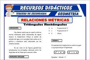 Ficha de Ejercicios de Relaciones Métricas para Tercero de Secundaria