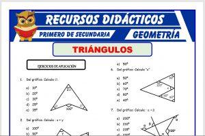 Ficha de Ejercicios de Triángulos para Primero de Secundaria