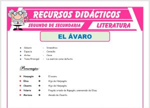 Ficha de El Avaro para Segundo de Secundaria