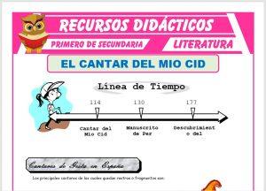 Ficha de El Cantar del Mio Cid para Primero de Secundaria