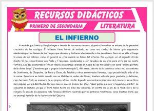 Ficha de El Infierno La Divina Comedia para Primero de Secundaria