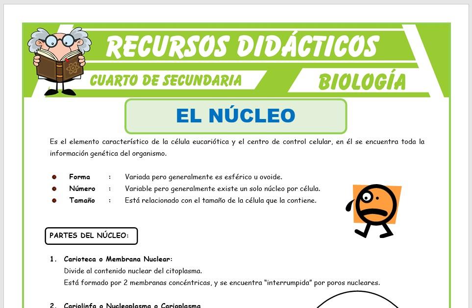 Ficha de El Núcleo para Cuarto de Secundaria
