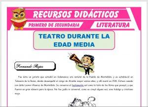 Ficha de El Teatro en la Edad Media para Primero de Secundaria