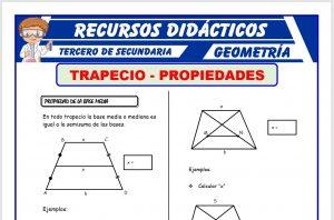 Ficha de El Trapecio y sus Propiedades para Tercero de Secundaria