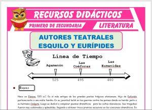 Ficha de Esquilo y Eurípides para Primero de Secundaria
