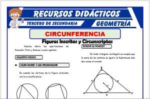 Ficha de Figuras Inscritas y Circunscritas en la Circunferencia para Tercero de Secundaria