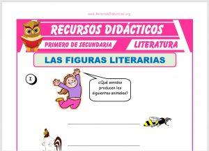 Ficha de Figuras Literarias para Primero de Secundaria