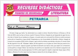 Ficha de Francesco Petrarca para Primero de Secundaria