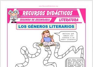 Ficha de Géneros y Especies Literarias para Segundo de Secundaria