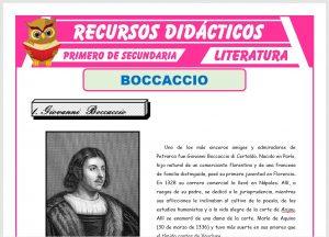 Ficha de Giovanni Boccaccio para Primero de Secundaria