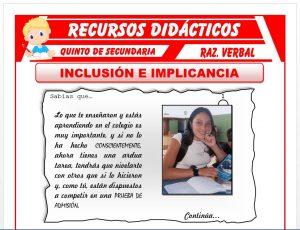 Ficha de Inclusión e Implicancia para Quinto de Secundaria