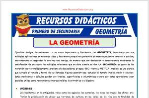 Ficha de Introducción a la Geometría para Primero de Secundaria