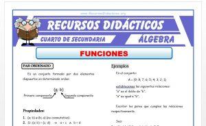 Ficha de Introducción a las Funciones para Cuarto de Secundaria