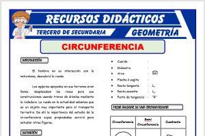 Ficha de La Circunferencia para Tercero de Secundaria