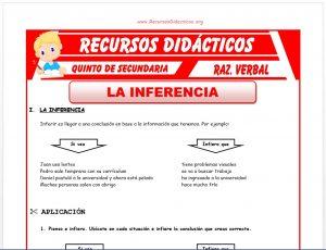 Ficha de La Inferencia para Quinto de Secundaria