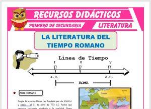 Ficha de La Literatura del Imperio Romano para Primero de Secundaria