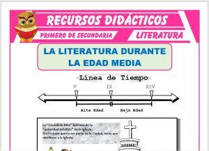 Ficha de La Literatura en la Edad Media para Primero de Secundaria