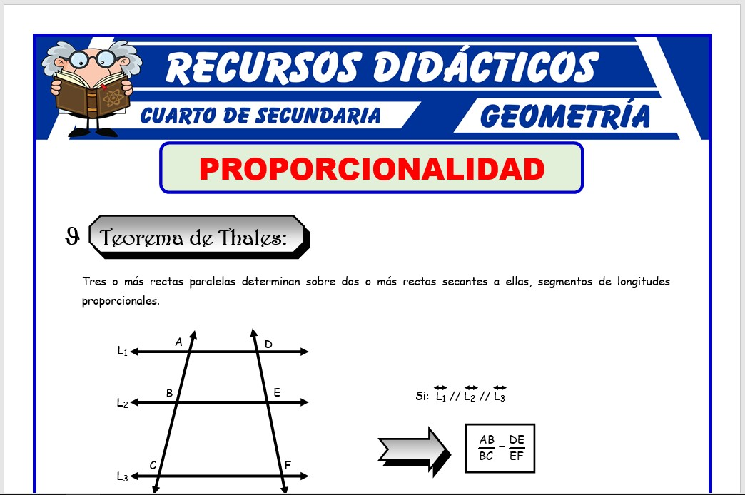 Ficha de La Proporcionalidad para Cuarto de Secundaria