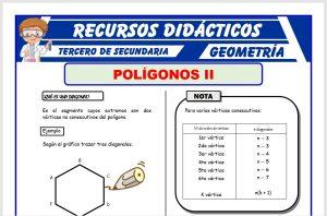 Ficha de Las Diagonales de los Polígonos para Tercero de Secundaria