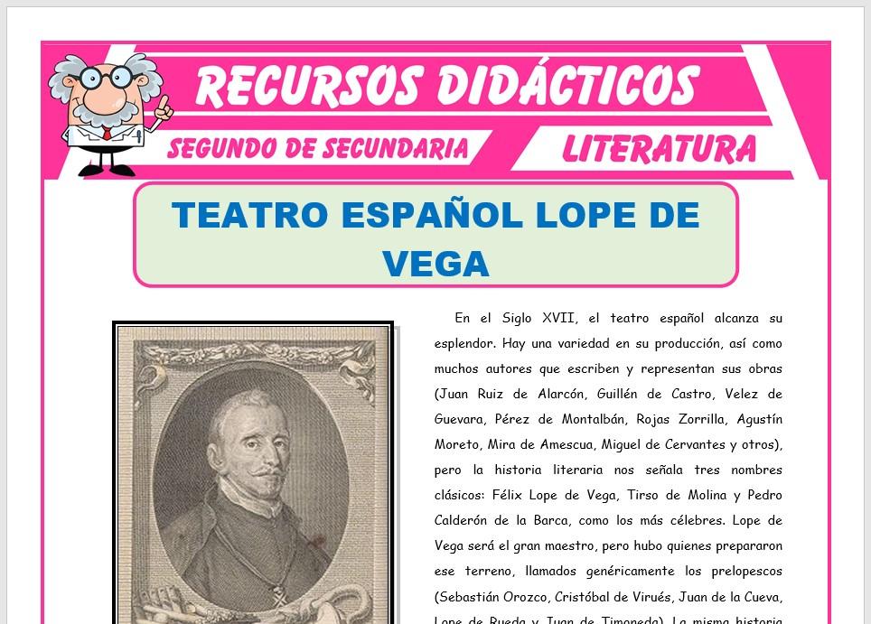 Ficha de Lope de Vega para Segundo de Secundaria